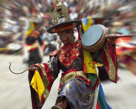 Dancer at Paro Tsechu Festival
