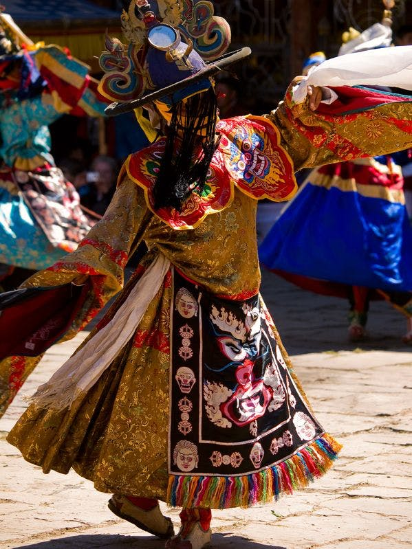 Masked Dancer during a festival in Bhutan
