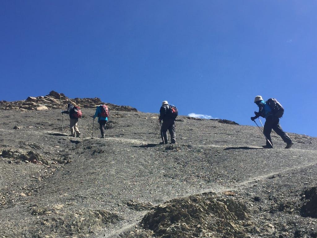 Trekking over Mo La pass, Upper Dolpo