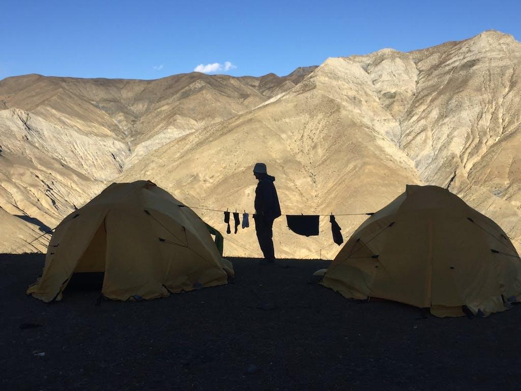 Camping at Saldang village, Upper Dolpo