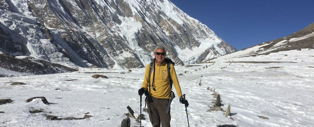 Trekking in Nepal during the winter