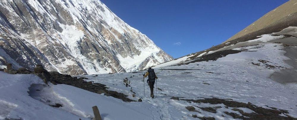 Trekking towards Tilicho Lake