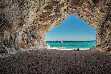 Cave in a beach in Sardinia