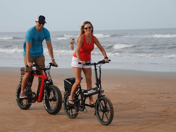 couple on a E-bike