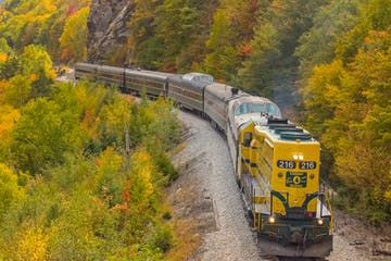 Mountaineer Premium Class moving along a mountain track