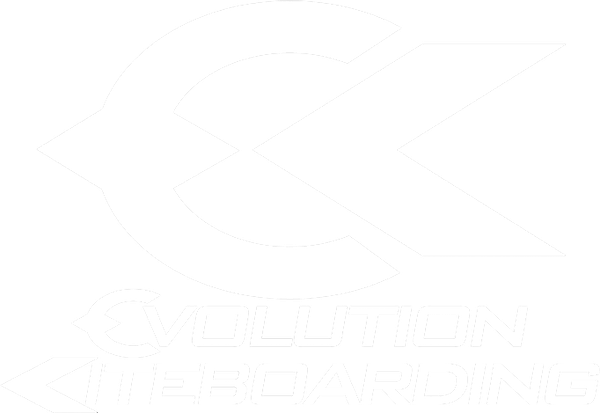 Evolution Kiteboarding White Logo