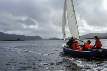 group sailing on a boat