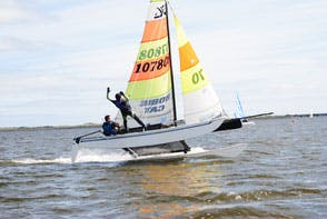 two sailors during a regatta