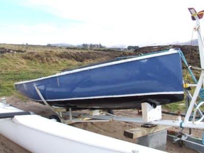 Blue boat side