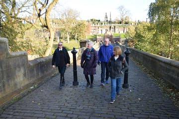 People enjoying Mediaeval Glasgow tour