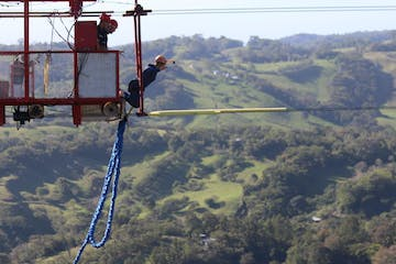 Amazing View from the Bungee Jumping Tram at Monteverde Extremo Park in Costa Rica