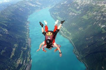 Skydiving Above Interlaken