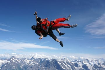 Skydiving in Switzerland