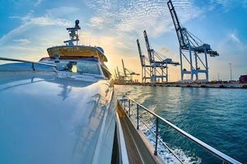 luxury yacht cruising in the waterluxury yacht cruising in the water