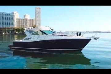 Miami rental boat on charter near South Beach.