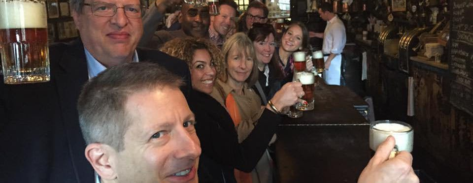 Corporate beer tour at McSorley's Old Ale House