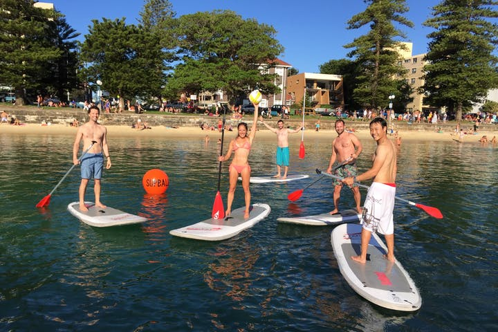 SUPBALL team in Manly beach