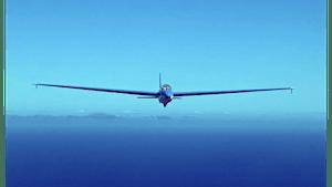 Morning Glider Plane Flight