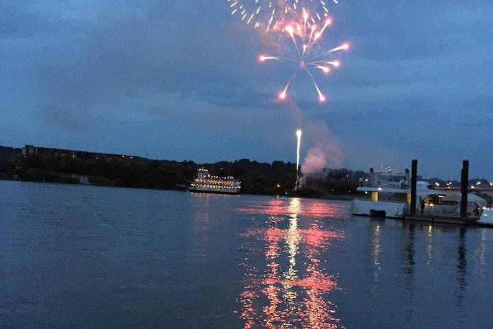 Fireworks over the Tennessee River!