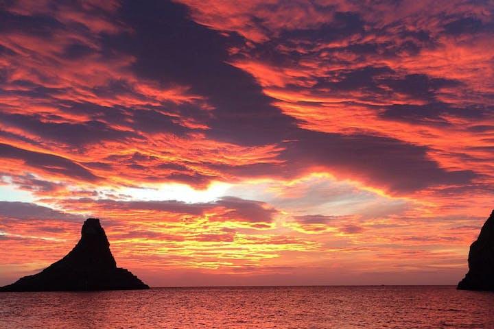 sunset in acitrezza