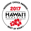 Hawaii Magazine Readers' Choice Awards Best of Kauai