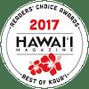 Hawaii Magazine Readers' Choice Awards Best of Kauai