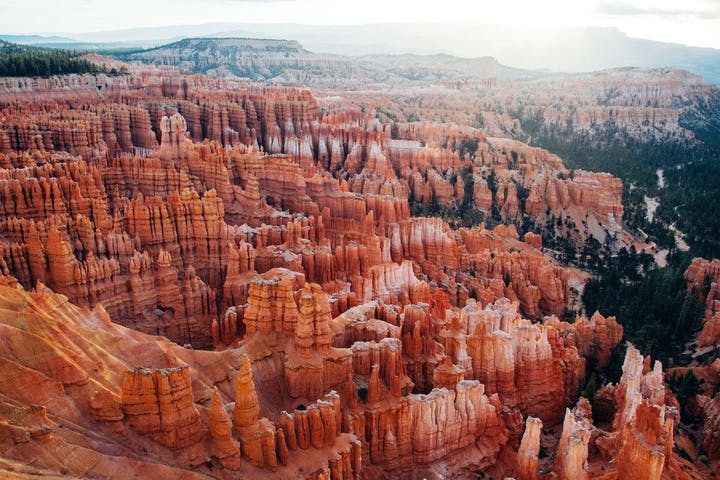 aerial view of Bryce Canyon
