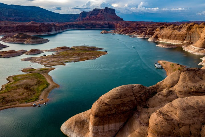 aerial view of Lake Powell