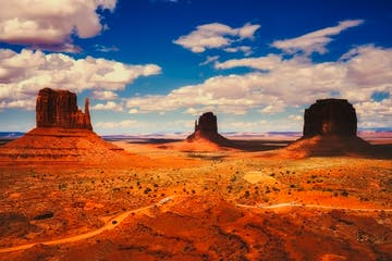 aerial view of Monument Valley in Arizona