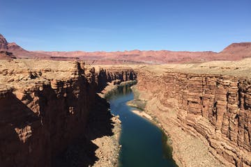 View of the Colorado River running through Marble Canyon