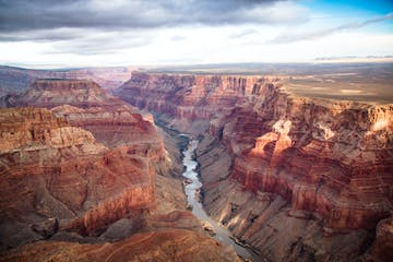 view over the south and north rim part in grand canyon