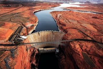 Glen Canyon Dam aerial view