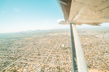 View of Phoenix from plane