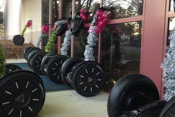 segway decorated with christmas things