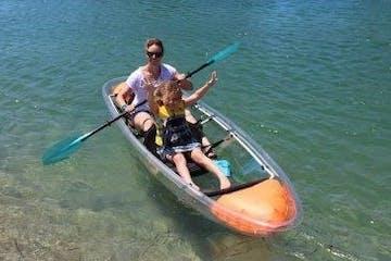 double transparent kayaking