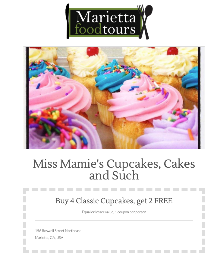 Click here to Miss Mamie's Cupcakes