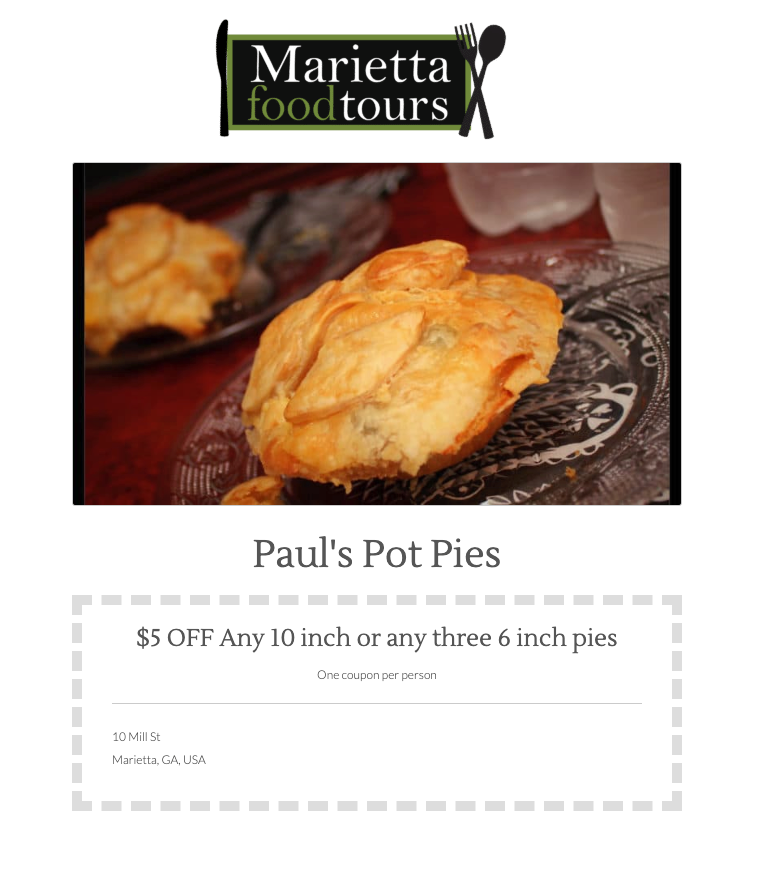 Click here to Paul's Pot Pies