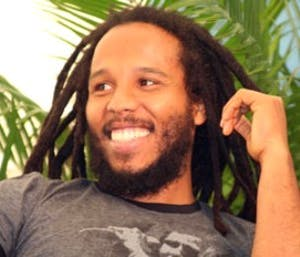 a close up of Ziggy Marley