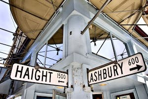 Haight Ashbury sign on San Francisco weed tours
