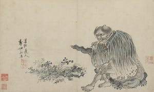 drawing of Emperor Shennong