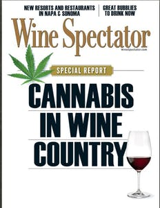 Cover of Wine Spectator Magazine on Cannabis in Wine Country