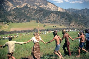 hippies dancing in The Emerald Triangle