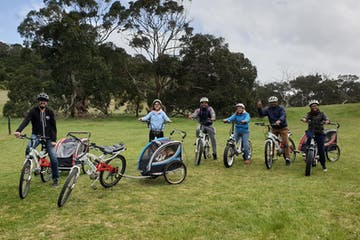 Group of people on their electric bikes
