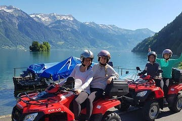 women on a quad