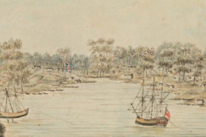 old illustration of british ships