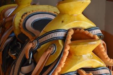 hand made horse saddle