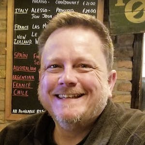 a man smiling for the camera