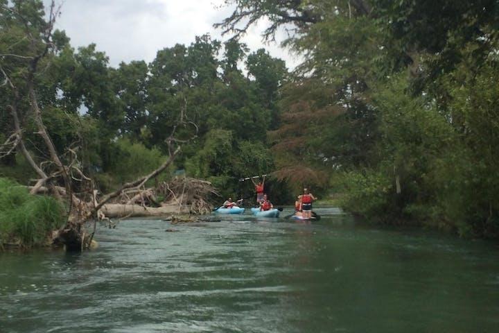 people kayaking the san marcos river