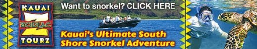 Kauai Zodiac Tours Snorkeling