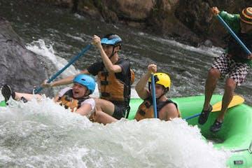 people white water rafting Toro River